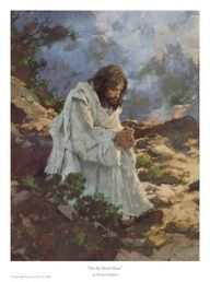 Yeshua in hard time praying,that the Father spare His live