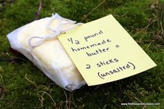 Homemade Butter....what a fun thing for the kids to do for Thanksgiving Dinner!
