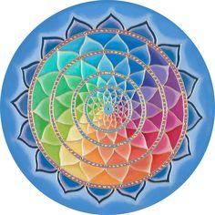 """Rainbow Ananda"" - mandala by Paul Heussenstamm, via Mandalas"