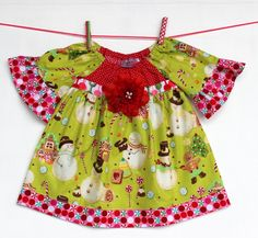 Green Frosty Snow Holiday  Dress by WildOliveKids on Etsy, $35.00