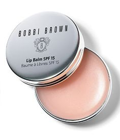 Bobbi Brown Lip Balm SPF 15. I worked on a fall look event for them once and fell in love with this lip balm. Thick but not sticky and very moisturizing.  $17