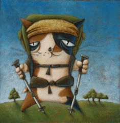 """Calico Hiker"" by Nora Thompson"