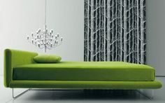 Green home decor photos - myLusciousLife.com - Avalon Upholstered Bed from Living Divani.jpg