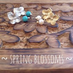 Silver cherry blossom back in stock! *NEW gold cherry blossom with freshwater pearl #sweetcandystuffs #earrings #blossom #spring #turquoise #pearls #jewelry #instajewelry #instafashion #handcrafted #etsyshop #etsy #backinstock #sieraden #voorjaar #oorstekers #oorbellen #bloesem #handgemaakt
