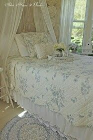 Blue And White Spring Cottage Bedroom Update ! Aiken House and Gardens