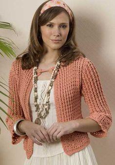 Crochetemoda: Casaqueto de Crochet Rosa ~ Photos Only