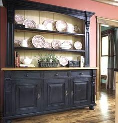 I love this hutch, but I would only want it 2 cabinets wide - not 3.  hutch1