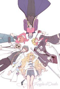 Please kill me Angel Of Death, Magic Anime, Tous Les Anime, Anime Group, Treasure Planet, Satsuriku No Tenshi, Rpg Horror Games, Rpg Maker, Anime Angel