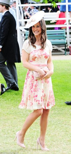 Pretty as a princess: Pippa Middleton was immaculately dressed for her day at the Royal Ascot on Saturday