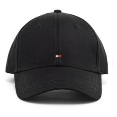 Tommy Hilfiger Men's Classic Cap - Flag Black ($31) ❤ liked on Polyvore featuring men's fashion, men's accessories, men's hats, mens hats, mens cotton beanie hats, mens caps and hats, mens ball caps and mens baseball hats
