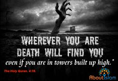 Death WILL find us ALL! ⚰️ Beautiful Quran Quotes, Islamic World, Holy Quran, Islamic Quotes, Speakers, Allah, Muslim, Verses, Finding Yourself