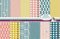 Organic Triangular Digital Papers Printable by Blixa6Studios, €3.95