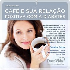 #Nutricionista Além de não estar associado ao aumento de doenças do coração e nem de câncer, o consumo moderado de café ainda diminui as chances de desenvolver diabetes tipo 2.