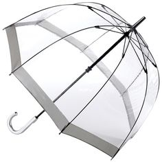 Fulton Transparent Birdcage Manual Umbrella, Silver ($21) ❤ liked on Polyvore featuring accessories, umbrellas, fulton umbrella, see through umbrella, fulton, transparent umbrella and silver umbrella