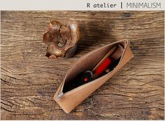 $25/each | Handmade Leather Pencil Case | Pen Pouch #leathercase #pencilcase #pencilpouch #leathergifts