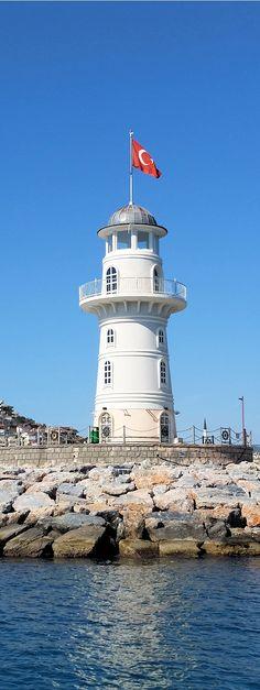 Leuchtturm in Alanya, Türkei, Antalya