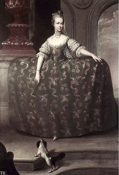 """Maria Elisabeth by Martin van Meytens (Sister of Marie Antoinette who was known as """"the beautiful Elisabeth"""" until she was badly scarred by smallpox and ruthlessly eliminated from the European marriage market)"""