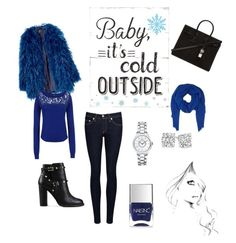 """""""It's cold outside"""" by ela-gashi ❤ liked on Polyvore featuring Armani Jeans, rag & bone/JEAN, Valentino, Yves Saint Laurent, DESTIN, Christian Dior and Nails Inc."""