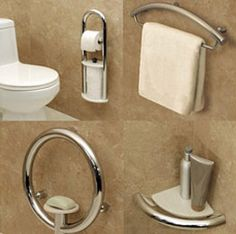Invisia Luxury Grab Bars bathroom safety products from Advanced Mobility. From wheelchairs to mobility scooters, lift chairs to home healthcare products, we Ada Bathroom, Handicap Bathroom, Bathroom Safety, Small Bathroom With Shower, Boho Bathroom, Modern Bathroom Decor, Bathroom Renos, Bathroom Interior Design, Bathroom Renovations