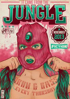 IT CAME FROM THE JUNGLE - BUSTING UP NOVEMBER by Michael Dos Ramos, via Behance
