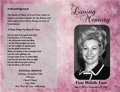 65 Best Memorial Legacy Program Templates Images Funeral Program