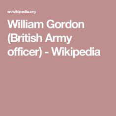 William Gordon (British Army officer) - Wikipedia