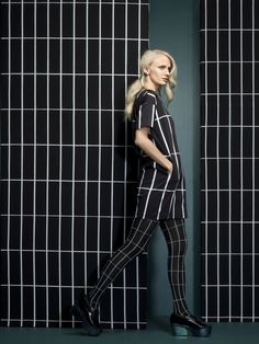 Hyps dress and Tellis tights. #MarimekkoAW14 #Marimekko