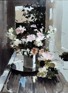 John Yardley - The Watercolour Log: Watercolour Paintings Watercolor Landscape, Watercolor And Ink, Watercolor Flowers, Watercolour Paintings, Watercolours, Painting Still Life, Arte Floral, Abstract Flowers, Gouache