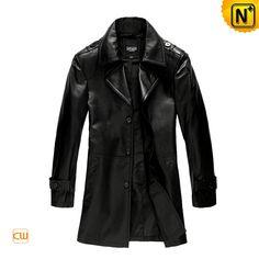 New Style Leather Coat Men's Fashion Slim Epaulets Leather Dust Coat CW861560 $718.57 - www.cwmalls.com