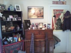 This is RC's dresser and bookcase. It was on the right side of her room when she lived with her dad.
