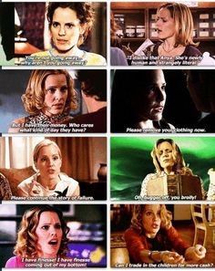 I always loved Anya, I know some say she's just a filler character, that she holds no point... but I love the awkwardness of trying to become human, and trying to fit into the normal world, to me it always paralleled Buffy's inability to truly fit into the world as well, it gave perspective.