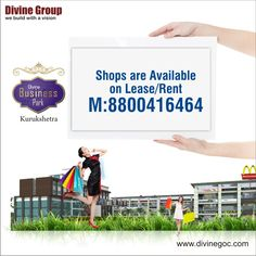 Just dial our number once to lease /rent our highly beneficial shops in quick time. #divinebusinesspark, #Kurukshetra http://www.divinegoc.com/divine-business-park/