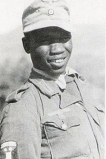 African Nazi Soldier