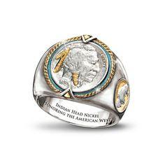 Indian Head Nickel Men S Ring Rings For Men Mens Jewelry Jewelry
