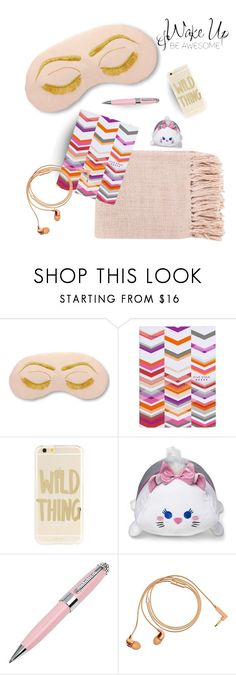 """""""Wake-up and be awesome"""" by makeup-queen-anna ❤ liked on Polyvore featuring Sonix, Disney, ICE London and Happy Plugs"""
