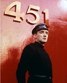 """Finally, we come to Fahrenheit 451 , a dystopian novel by Ray Bradbury that tells the story of Guy Montag, a """"fireman"""" whose job is to burn books, which are illegal in his world. Movie Co, Film Movie, Science Fiction, Francois Truffaut, Fahrenheit 451, Photographs Of People, Sci Fi Movies, Classic Hollywood, Books"""