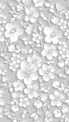 White Flowers Background Vector Source Files H5