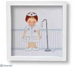 Cuadro infantil personalizado: Quiero ser enfermera (ref. 10139)