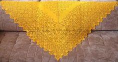 Knitted Shawl Autumn Valse | Шаль «Осенний вальс»