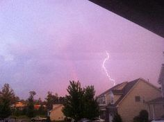 Rainbow With Lightning Streak  Location: Rock Hill, SC