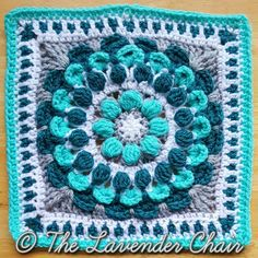 Marigold Mandala Square Free Crochet Pattern Crochet Vest Pattern, Granny Square Crochet Pattern, Crochet Motif, Crochet Yarn, Crochet Stitches, Free Crochet, Crochet Patterns, Free Pattern, Mandala Crochet