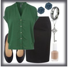 """""""Ladylike: blouse & pencil skirt"""" by urbansouthuna on Polyvore - I made this a year ago - I've been inspired to update my wardrobe, making it a bit more """"grown-up"""", """"lady-like"""" & """"put together""""."""