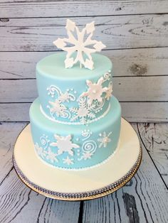 Snowflake Cake by Amy Hart