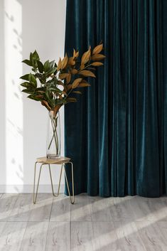 An unexpected magic moment captured by Michelle Williams Photography on our latest shoot. The afternoon light perfectly shows off our luscious Atelier velvet curtain. Velvet drapery in teal green is the best kind of drapery! - Home Decoration Cortinas Rollers, Velvet Drapes, Velvet Curtains Bedroom, Dark Teal Curtains, Curtains Living Rooms, Emerald Green Curtains, Dark Teal Bedroom, Thick Curtains, Diy Home