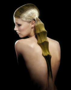 "Angelo Seminara, multi-time British Hairdresser of the Year, ""Bamboo Hair."""