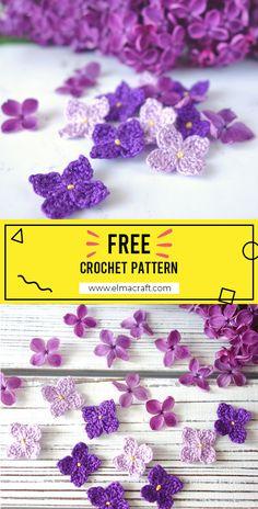 crochet flower patterns simple - free crochet flower patterns to print Crochet Butterfly Free Pattern, Crochet Daisy, Crochet Flower Tutorial, Crochet Leaves, Irish Crochet, Crochet Motif, Crochet Patterns, Diy Crochet Flowers, Crochet Crafts