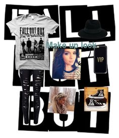 """""""Fall out boy!"""" by sophie295 on Polyvore featuring WithChic, Maison Michel, Casetify and Converse"""
