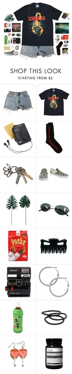 """""""arachnids"""" by ninaaaquino ❤ liked on Polyvore featuring Levi's, Westinghouse, Paul Smith, Chapstick, Vans, Chanel, Polaroid, Melissa Odabash, Goody and Aesop"""