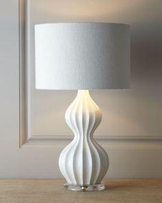 "H6QAD White ""Peanut"" Lamp - cool lamp - Sale $150"