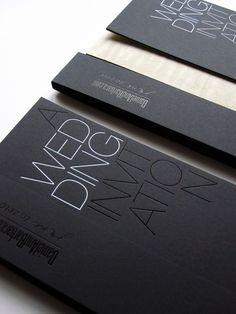 Black White Modern Wedding Invitation4 300x400 Modern Foil Stamp Wedding Invitations